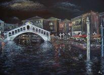 Nacht, Italien, Venedig, Malerei