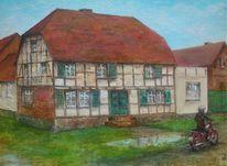 Geschichte, Uckermark, Bauernhaus, Malerei