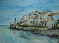 Aquarellmalerei, Umag, Kroatien, Aquarell