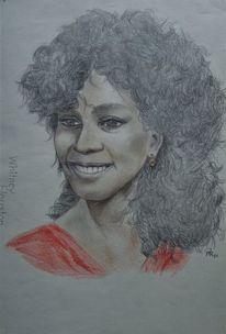 Bleistiftzeichnung, Whitney houston, Buntstft, Zeichnungen
