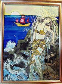 Hinterglasmalerei, Illustration, Märchen, Malerei