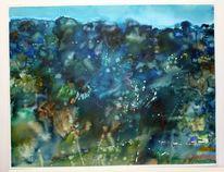Licht, Landschaftsmalerei, Landschaft, Nacht