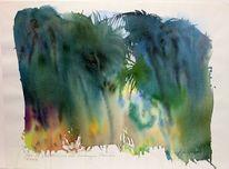 Kenia, Aquarellmalerei, Mamba, Abstrakt