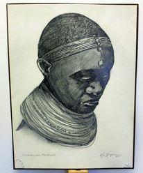 Afrika, Massai, Mädchen, Malindi