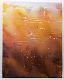 Aquarellmalerei, Afrika, Abstrakt, Licht