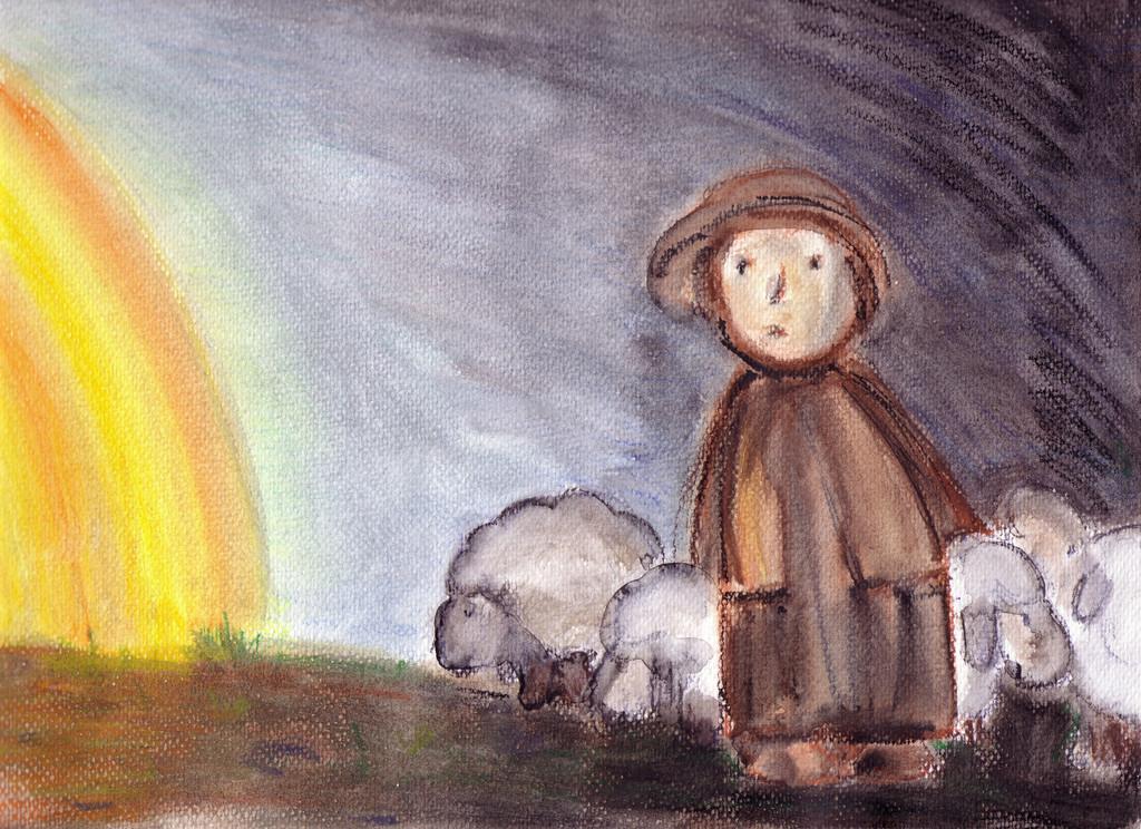 Hirten Bilder Weihnachten.Hirtenlicht Jesus Licht Geburt Dunkel Von Male Rinsland Bei