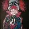 Clown, Rose, Malerei,