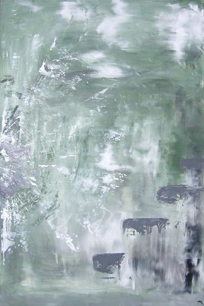 Zeitpunkt, Grün, Weiß, Schnee, Grau, Strahlen