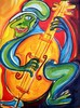 Musiker, Musik, Malerei, Bass