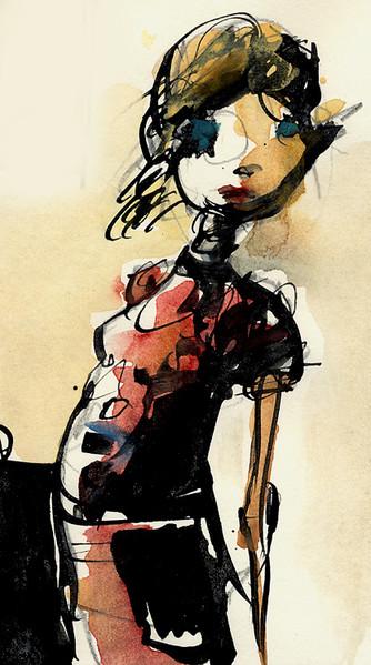 Mädchen, Zeichnungen