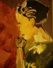 Rot, Frau, Malerei, Menschen