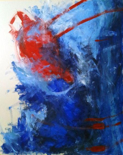 Ruhe, Wasser, Blau, Knall, Rot, Himmel