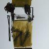 Oliv, Abstrakt, Schwarzweiß, Malerei