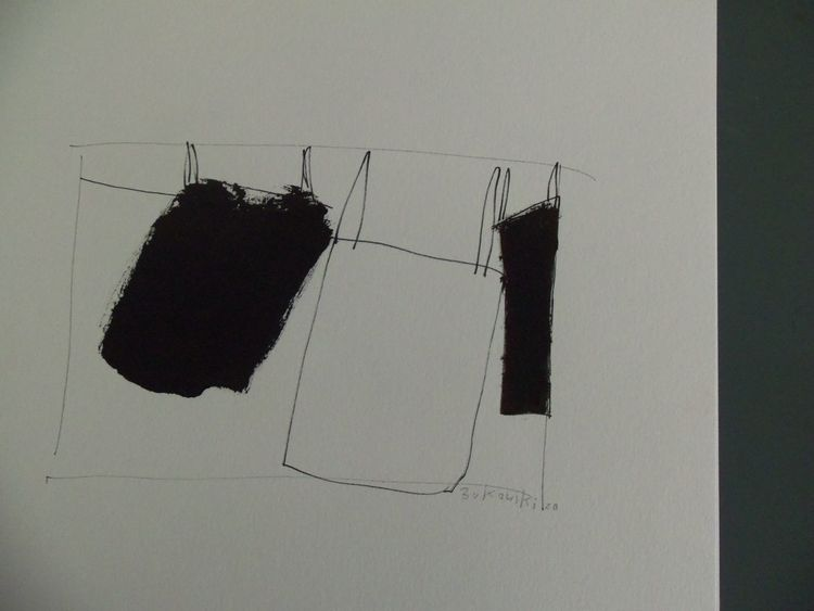 Weiß, Wäscheleine, Schwarz, Zeichnungen