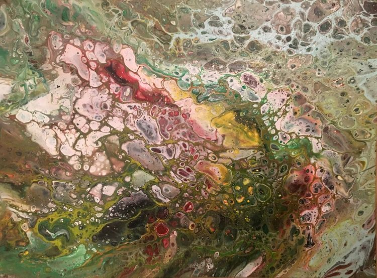 Handarbeit, Acrylmalerei, Bunt, Farben, Mischtechnik, Leben