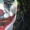Menschen, Acrylmalerei, Böse, Bunt