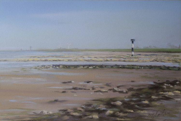 Küste, Deich, Leuchtfeuer, Leuchtturm, Wattenmeer, Cuxhaven