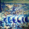 Abstrakt, Acrylmalerei, Blau, Surreal