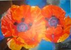 Acrylmalerei, Mohn, Malerei
