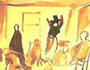 Schauplatz, Surreal, Theater, Ölmalerei