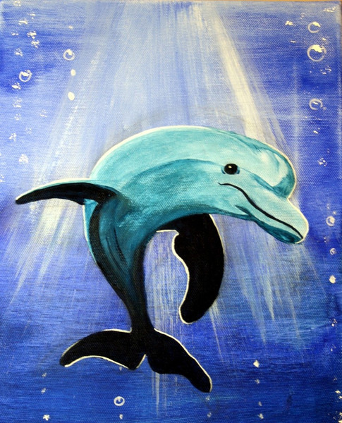 Delfin, Meeresbewohner, Meerestier, Säugetier, Unterwasser, Dolphin