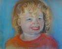 Kinderportrait, Pastellmalerei, Malerei, Menschen