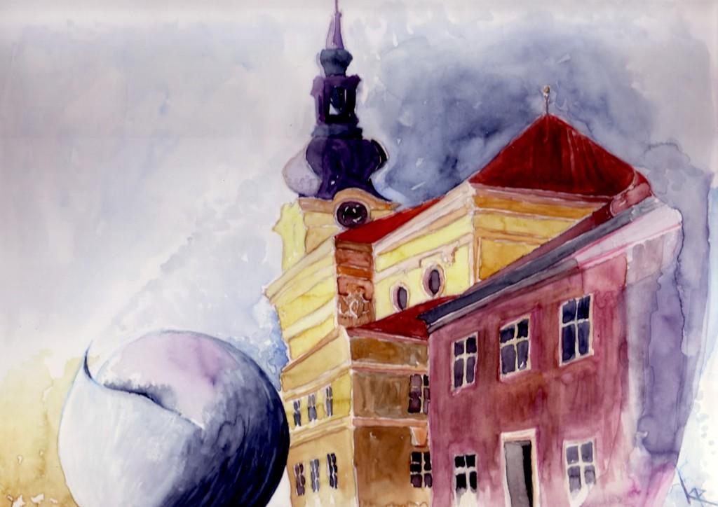 Bild aquarell architektur barock von vanja2 bei kunstnet for Architektur aquarell