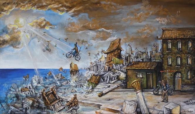 Malerei, Flucht, Atlantis