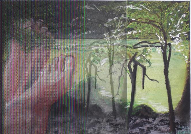 Baum, Melancholie, Fuß, See, Grün, Wasser