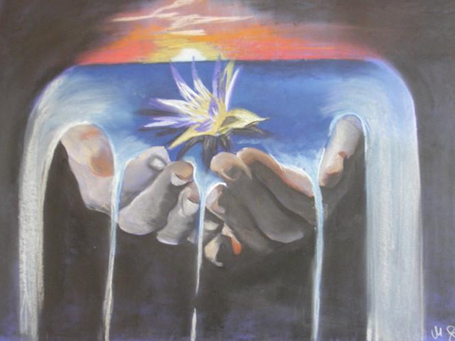 Erfüllung, Feude, Spirituell, Hände, Trauer, Licht