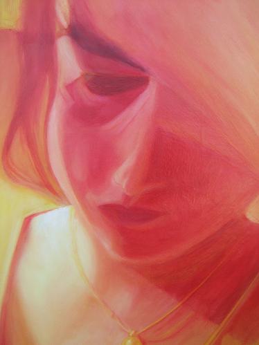 Ölmalerei, Gemälde, Öl auf holz, Malerei, Rot,
