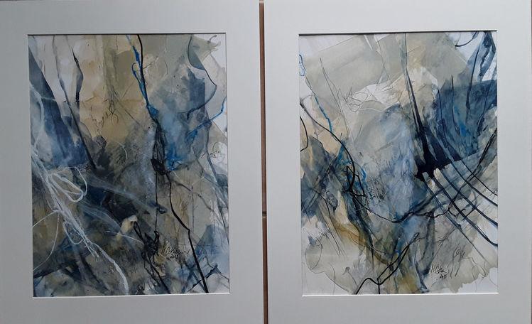 Beige, Linie, Schellack, Blau, Schrift, Abstrakte malerei