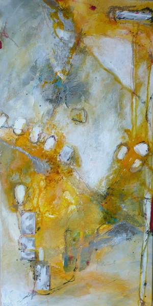 Lebensfreude, Sommer, Energie, Weiß, Gelb, Malerei