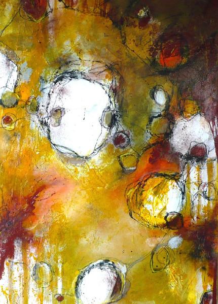 Gelb, Formen, Abstrakt, Rund, Malerei, Sommer