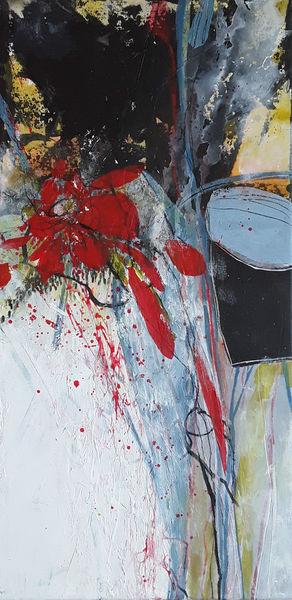 Blüte, Gelb, Blumen, Linie, Abstrakte malerei, Blau