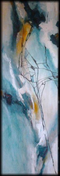 Blau, Weiß, Linie, Türkis, Gelb, Abstrakte malerei