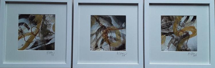 Abstrakte malerei, Braun, Gold, Beige, Linie, Malerei