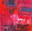 Schaukelpferd, Abstrakt, Spachteltechnik, Blau