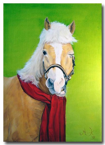 Pferde, Halfter, Schal, Tiere, Mähne, Malerei
