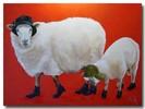 Schaf, Fell, Schuhe, Freunde