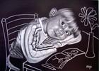 Portrait, Blumen, Mädchen, Zeichnungen