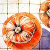 Kürbisse, Bischofsmütze, Aquarell