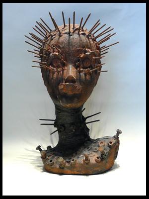 Endzeit, Abstrakt, Bizarr, Skulptur, Plastik