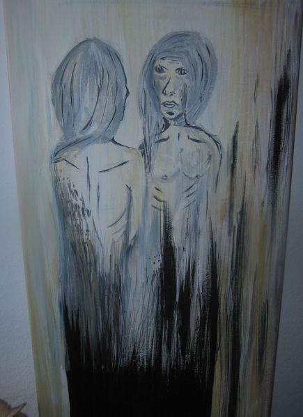 Weiblich, Menschen, Verschäht, Hass, Malerei