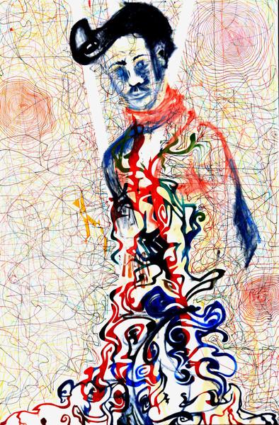 Person, Baum, Ölmalerei, Bunt, Gesicht, Wurzel