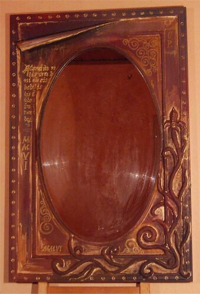 Latein, Ornament, Blätter, Spiegel, Malerei,