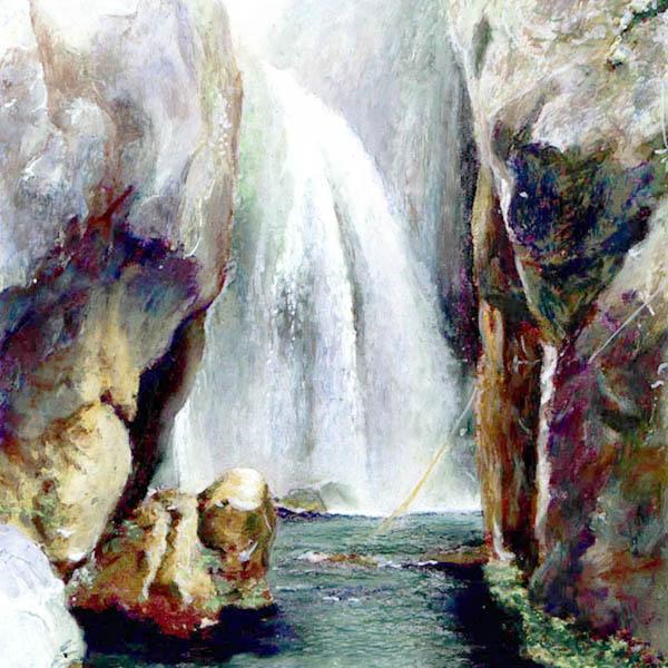Farben, Zeichnung, Kreide, Pastellmalerei, Landschaft, Zeichnungen