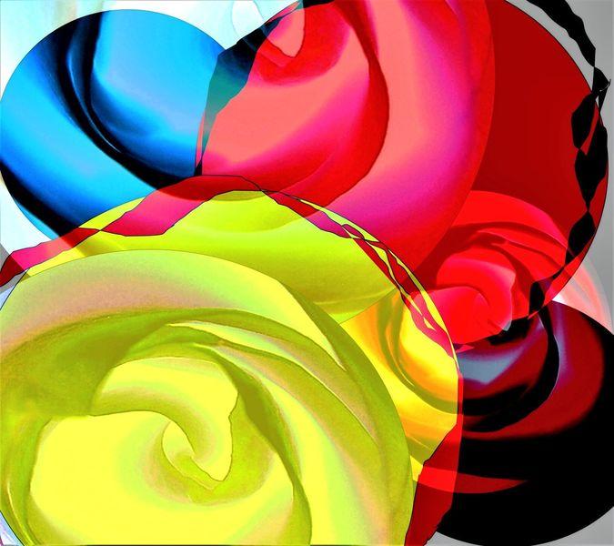 Grün, Modern, Digitale kunst, Lauer, Gelb, Blumen