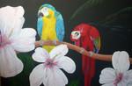 Paradies, Urlaub, Papagei, Malerei