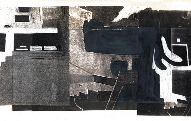 Geheimnis, Architektur, Surreal, Schwarzweiß, Traum, Malerei